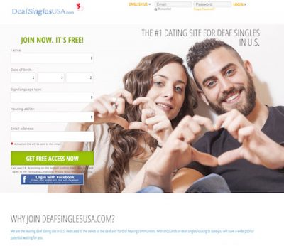 Dating site for the deaf
